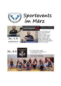 Sport Events im März,  ein KLick auf die Grafik öffnet einen pdf Flyer.
